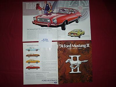 172 / FORD mustang II  catalogue toute version   7/73