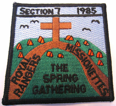 Section 7 The Spring Gathering Missionettes Royal Rangers Vintage Patch