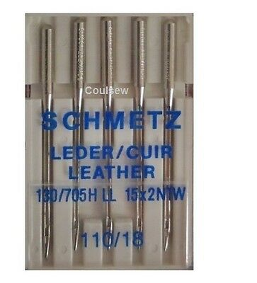 SEWING MACHINE NEEDLES SCHMETZ Size 110 / 18 LEATHER HEAVY DUTY STRONG THICK