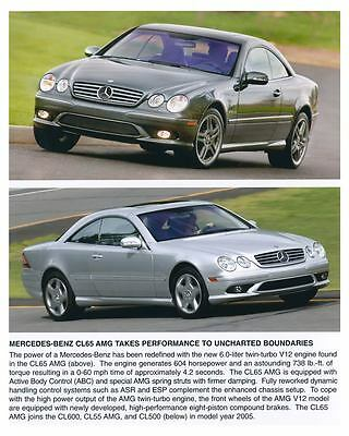 2005 Mercedes Benz CL65 AMG Automobile Photo Poster zch6572