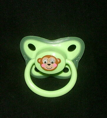 MONKEY   *wiggle eyes*   Pacifier Paci Dummy for OOAK Baby (or) REBORN Doll