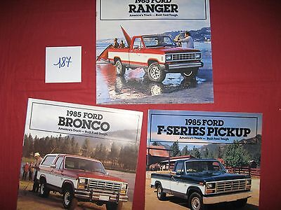 187 / FORD :  3   catalogues  1985  america's truck