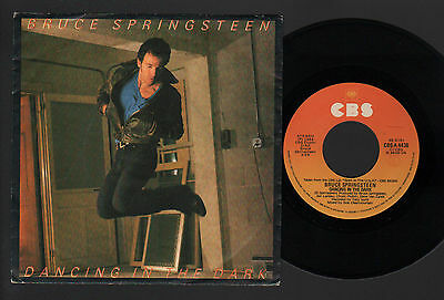 """7"""" Bruce Springsteen Dancing In The Dark / Pink Cadillac Italy 1984 With Lyrics"""