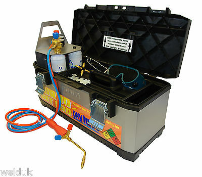 Oxyturbo  300 - Portable Gas Welding Kit C/w 2  Oxygen & Mapp Gas Cylinders E81