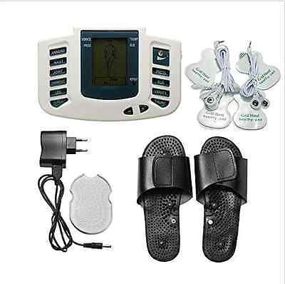 Digital LCD Full Body Relax Electric Massager Pulse Acupuncture Therapy Slipper