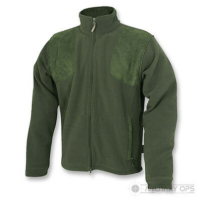 Jack Pyke Shires Fleece Hunting Full Zip Jacket Outdoors Camping Shooting Green