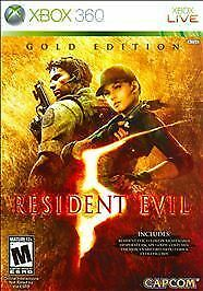 Resident Evil 5 Gold Edition Xbox 360 Game Complete!