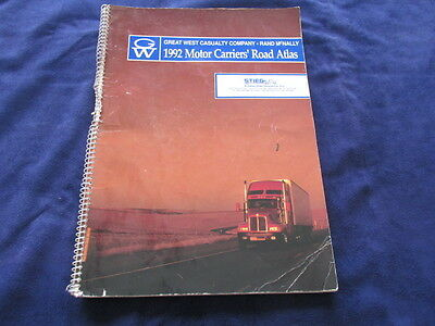 Great West Casualty Company Rand McNally 1992 Motor Carriers' Raod Atlas
