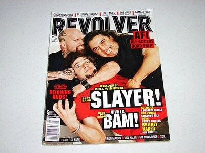 Revolver Magazine May 2004 Issue Slayer / Bam Margera / Van Halen - Out-Of-Print