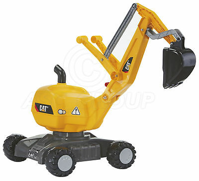 Rolly Toys - CAT Ride on Digger Excavator on Wheels - Sit on 360 Rotation Age 3+