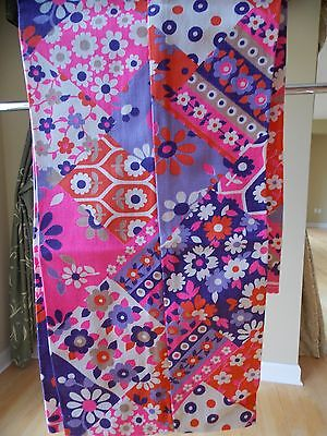 Vintage Girls' Pants Pink, Purple, Orange With Flowers, Size 10