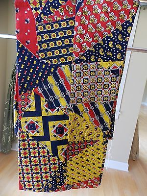 Vintage Girls' Pants Navy Blue, Red, Yellow, Size 10