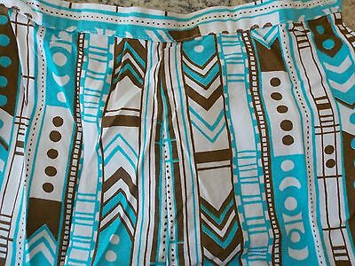 Vintage Girls' Pants Turquoise, Brown, White, Size 14, Sears Brand