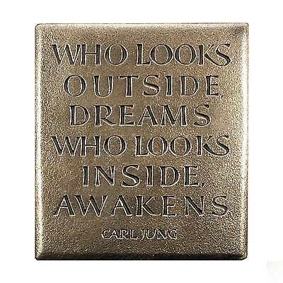 Bronze Inspirational Quote-Carl Jung-Made in Ireland