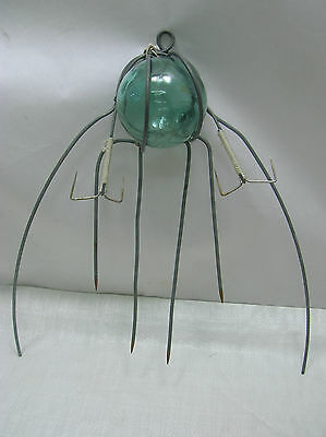 Vintage Glass Float Octopus Trap Straight Hooks Japanese Nautical