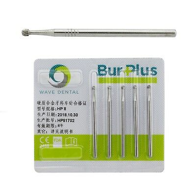 SBT Dental Tungsten Carbide Steel Round Burs HP 8# For Clinic or Lab Drill