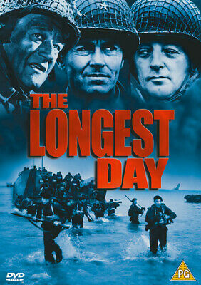 The Longest Day DVD (2001) John Wayne, Annakin (DIR) cert PG 2 discs Great Value
