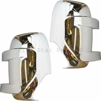 Chrome wing door mirror covers for Vauxhall Movano 2010-2015