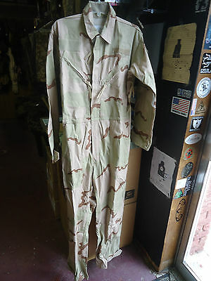 New Army small desert camo mechanics coverall, military surplus