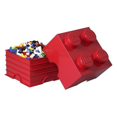 Lego Storage Brick 4 - Red – New – Official - Bedroom
