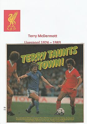 TERRY McDERMOTT LIVERPOOL 1974-1983 & ERIC GATES ORIGINAL HAND SIGNED PICTURE