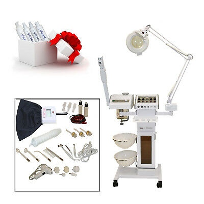 11 in 1 Facial Machine Ozone Steamer Towel Warmer Sterilizer Spa Salon Equipment