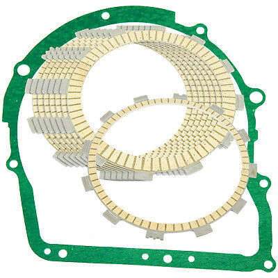 CLUTCH FRICTION PLATES w/GASKET Fits YAMAHA XVZ1300 Royal Star Tour Deluxe 97-10