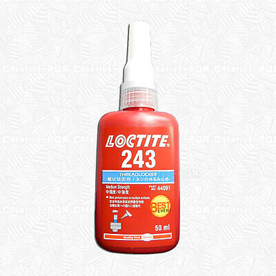 Loctite 243 50ml Medium Strength Threadlocker 24350 (oil tolerant, removable)