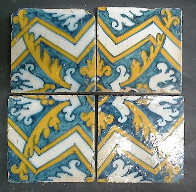 Antique Tile from Portugal Set of 4 Portuguese