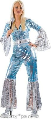 Ladies WATERLOO Fancy Dress Dancing Queen 1970s Fancy Dress Costume UK Size 6-24