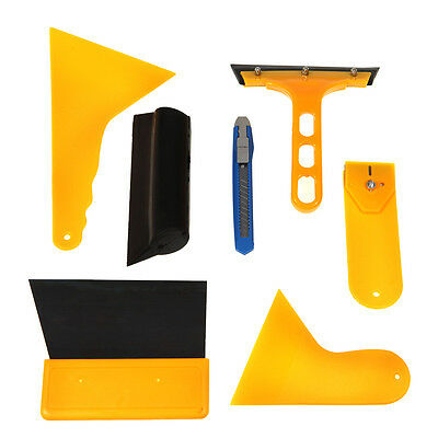 7 Pc Window Tint Tool Kit For Auto Film Tinting -Squeegee Razor Blade Scraper