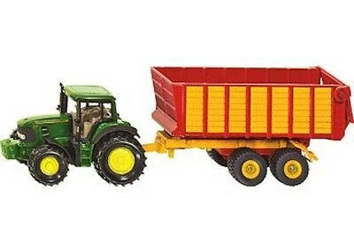 Siku - John Deere tractor with Silage Trailer * die-cast toy model * NEW #1650