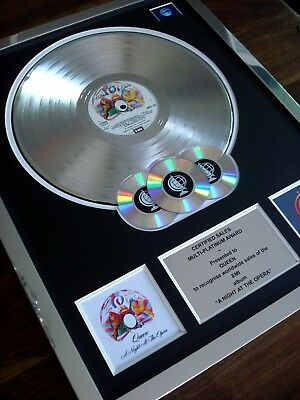 Queen A Night At The Opera Lp Multi Platinum Disc Record Award Album