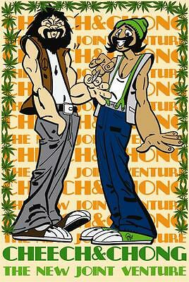 CHEECH AND CHONG - JOINT VENTURE POSTER - 24x36 MARIJUANA POT LEAF WEED 795