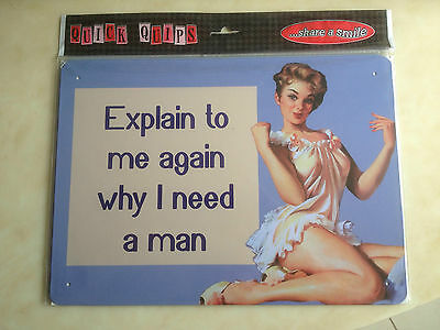 High Quality New Decorative Humorous Wall Plaque Steel Retro Vintage Rude