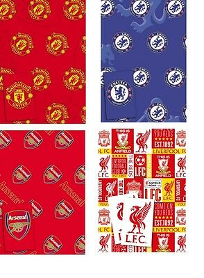 Official Premiership FOOTBALL GIFT WRAPPING SHEETS & TAGS  **Cheapest on Ebay **