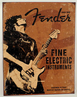 FINE ELECTRIC INSTRUMENTS POSTER FENDER 22x34 GUITAR MUSIC 15342