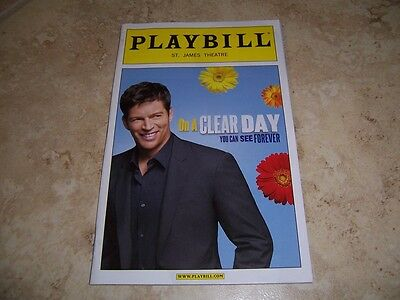 DECEMBER 2011 PLAYBILL - ON A CLEAR DAY YOU CAN SEE FOREVER - HARRY CONNICK JR