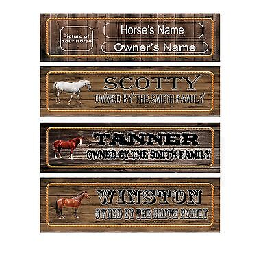 CUSTOM Horse Sign Name Plate Stall Barn Personalized to your Specifications