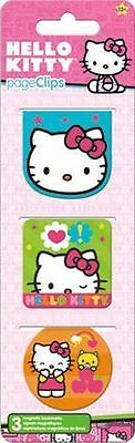 Hello Kitty - Magnetic Page Clips - Brand New - Book Reading Bookmark 4600
