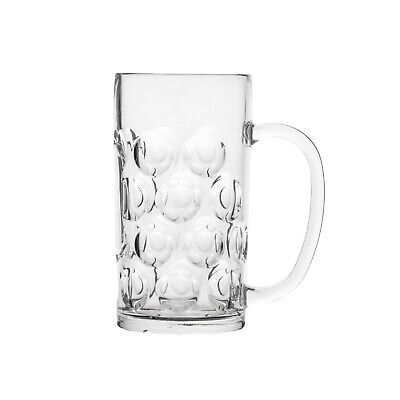 24x Polysafe Classic Beer Stein 540mL Polycarbonate Glassware, Plastic