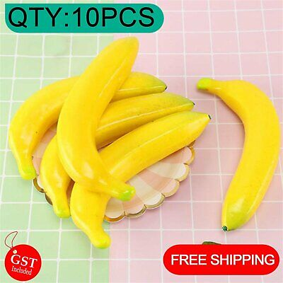 10X Artificial Banana Bananas Fake Fruit Home Party Wedding Shop Decoration Bar