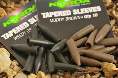 Korda NEW Carp Fishing Tapered Silicone Sleeves *Green Or Brown*