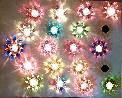 *** 18 Old Matchless Star Xmas Lights - Original around 1930 *** working a