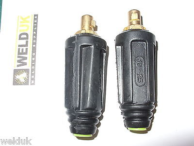 10-25 Dinse Plug x 2 for 16mm Cable small welders tig, mig, inverter,arc  E33