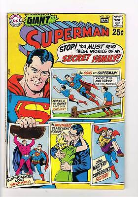 Superman # 222 Superman's Lost Brother ! 80 pg grade 8.0 hot scarce book !!