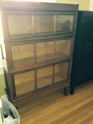 Rare Macey Barrister 3 Sectional Bookcase with raised panels