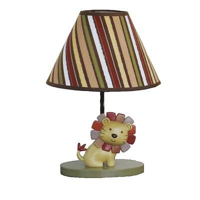 COCALO BABY NEW Nali Jungle Yellow Lion Baby Boy Nursery Lamp with Shade BHFO