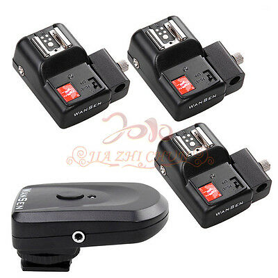 Wireless Flash Trigger PT-04 TM 4 Channel 3 Receivers for canon nikon pentax -A3