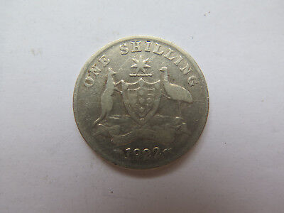 1922 AUSTRALIAN SILVER ONE SHILLING King George V